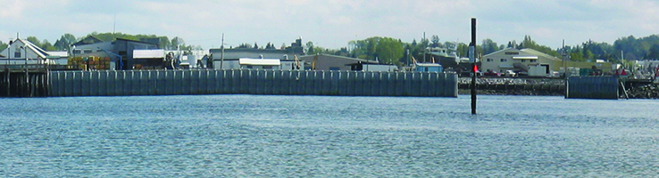 Blaine Harbor Wave Barrier, Panoramic
