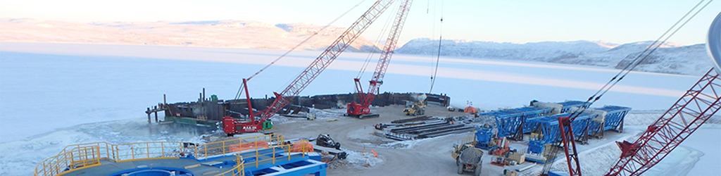 Baffinland Dock Construction