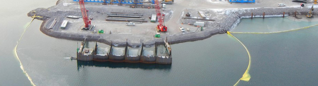 Milne Inlet Ore Dock Construction, Baffinland