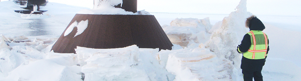 Resolution Breach Ice-Breaking Pier