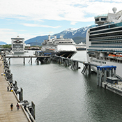 Downtown Juneau Cruise Ship Berths